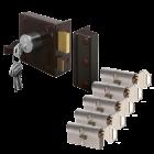 LIPS 1753 + 2 cilinders SKG 2 sterren ⭐⭐ Gelijksluitend DIN Links Draairichting 1